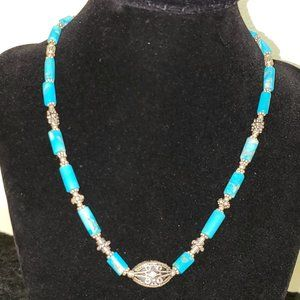 Turquoise and 925 Sterling Silver Set